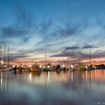 Porto di Alghero al tramonto