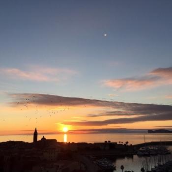 Alghero's silhouette at sunset