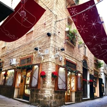 Centro storico di Alghero a Natale