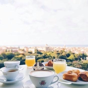 Breakfast overlooking Alghero