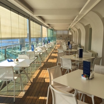 The interiors of the Skybar