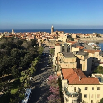 Alghero downtown seen from the Skybar
