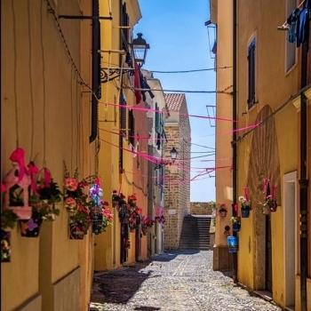 Decorazioni nel centro storico di Alghero