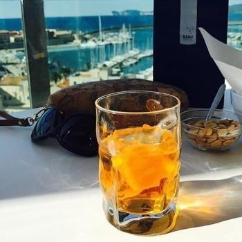 Ice and orange cocktail