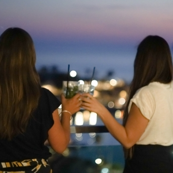 Toast among friends on the terrace
