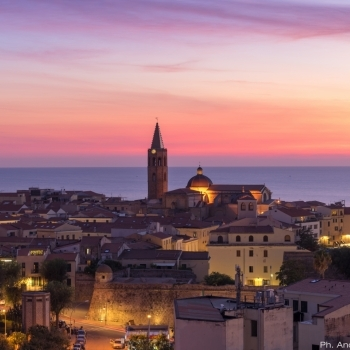 Alghero's Skyline at sunset