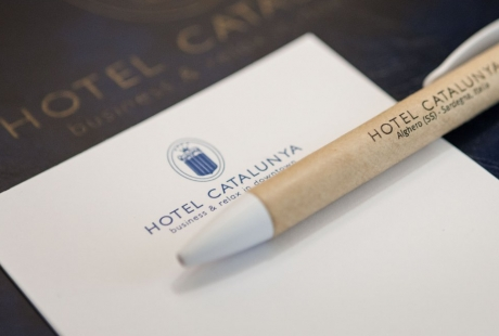 Stationery signed with the hotel logo