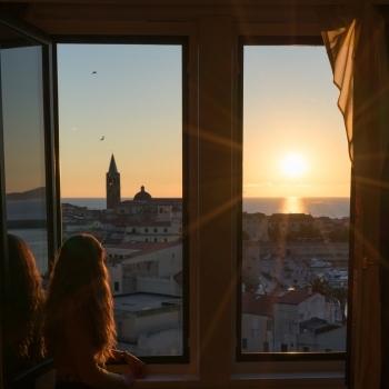 Panorama di Alghero dalle camere
