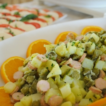 Recipe of vegetables and potatoes