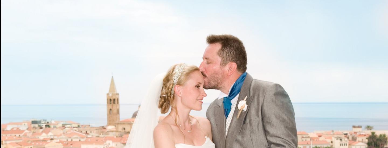 Novelli sposi sulla terrazza dello Skybar