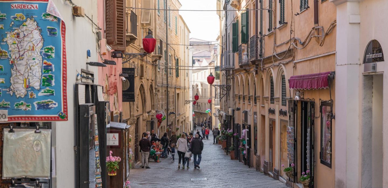 Negozi nel centro storico di Alghero
