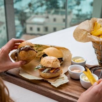 Various tastes of gourmet sandwiches