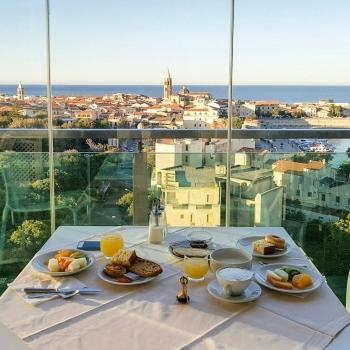 Panorama di Alghero dal Blau Sky Bar