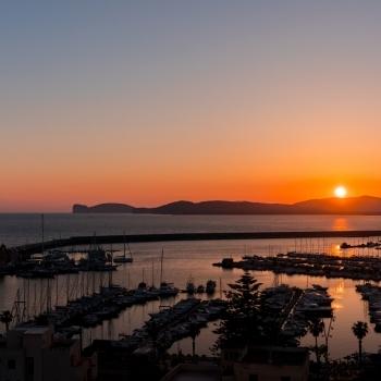 Unforgettable sunset on Alghero's Gulf