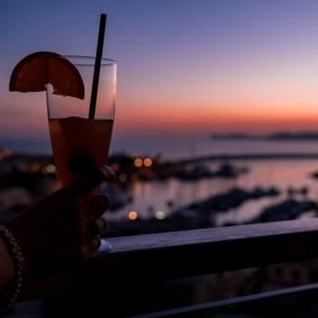Aperitif at sunset