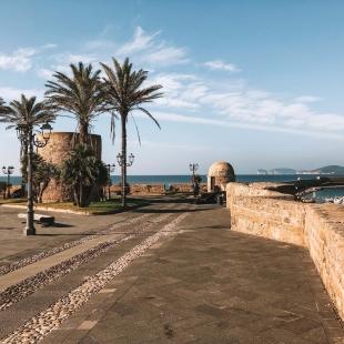 Bastioni di Alghero in inverno