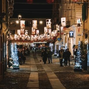 Addobbi natalizi nel centro storico